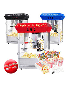 Best Quality Popcorn Machine 8 oz Popcorn Popper 8 Ounce Top Red-Black-Blue!